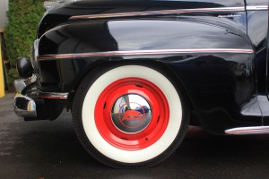 Powder-coated steel wheels and restored hubcaps